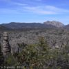 Overlooking some of the rock formations in Chiricahua National Monument, Arizona