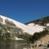 St. Mary's Glacier, the southernmost glacier in the US, sits above St. Mary's Lake, Arapaho National Forest, Colorado