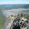 The view from Paulina Peak overlooking Newberry National Volcanic Park, Oregon