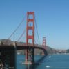 The Golden Gate Bridge spans the Golden Gate, Golden Gate National Recreation Area, Cailifornia