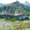 The Twin Lakes from Winchester Fire Lookout in Mt. Baker Area, Washington