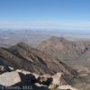 Chisos Basin and the Window from Emory Peak, Big Bend National Park, Texas