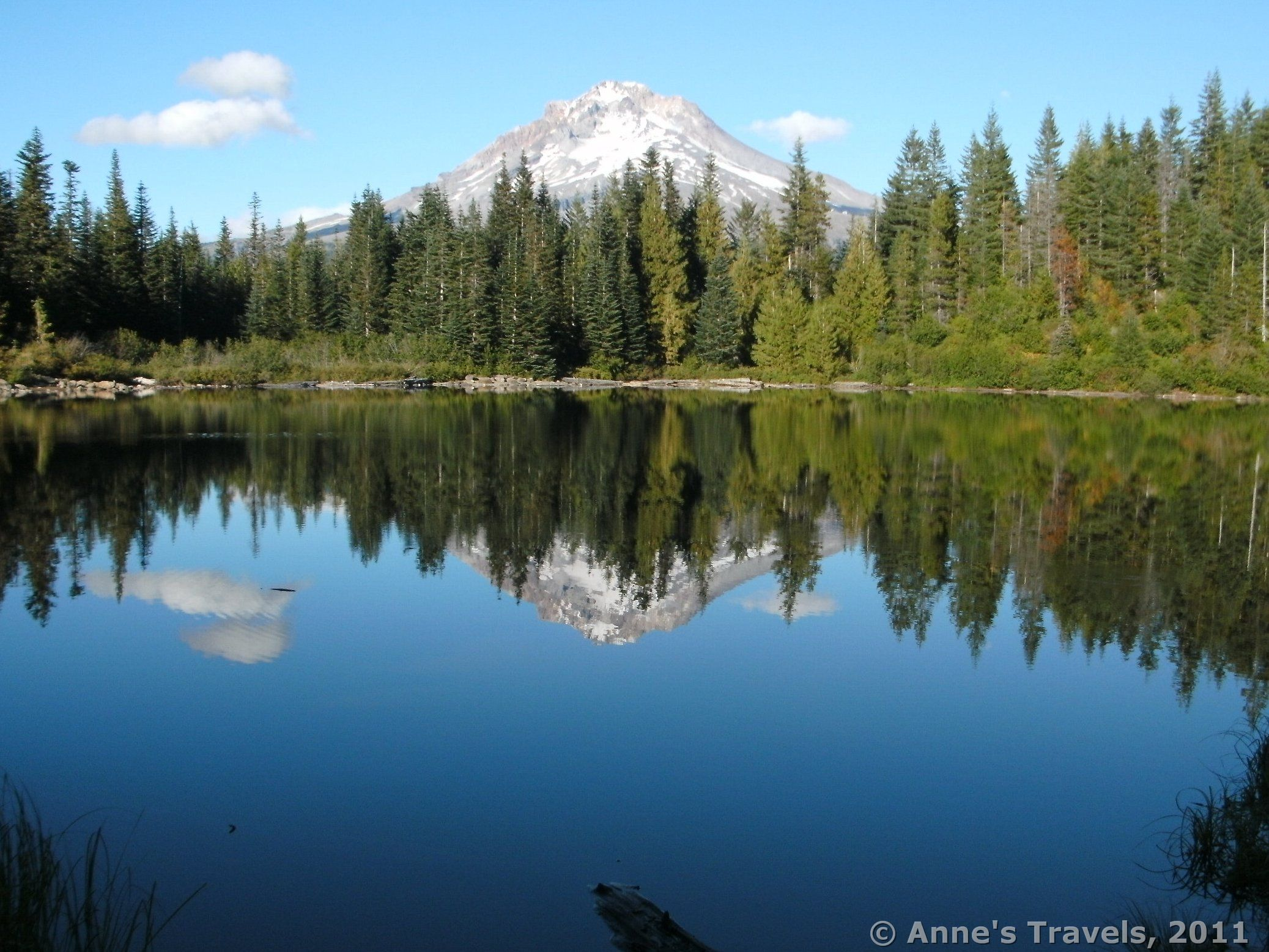 Perfect Reflection Of Mount Hood Mirror Lake