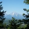 Views of Mt. Moran from Grand View, Grand Teton National Park, Wyoming