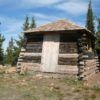A cabin atop Columbia Mountain where a fire tower once stood, eastern Washington