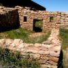 A barely unearthed room in Lowry Pueblo, Canyon of the Ancients, Colorado