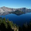 Crater Lake soon after sunrise, Crater Lake State Park, Oregon