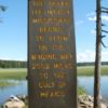 Sign at the Headwaters of the Mississippi, Itasca State Park, Minnesota