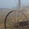 A wooden silo is just one piece of farm equipment at Corrizo Plain National Monument, California