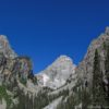 First view of Middle Teton in Garnet Canyon