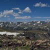 The northern view from Wymont Mountain along the Beartooth Highway, Shoshone National Forest, Wyoming.
