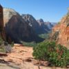 Zion Canyon from about 1/4 of the way up Angel's Landing, Zion National Park, Utah
