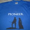 "A hand-painted shirt with the message ""I'm a Pioneer"""