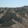 In the reality of the Badlands in Badlands National Park, South Dakota