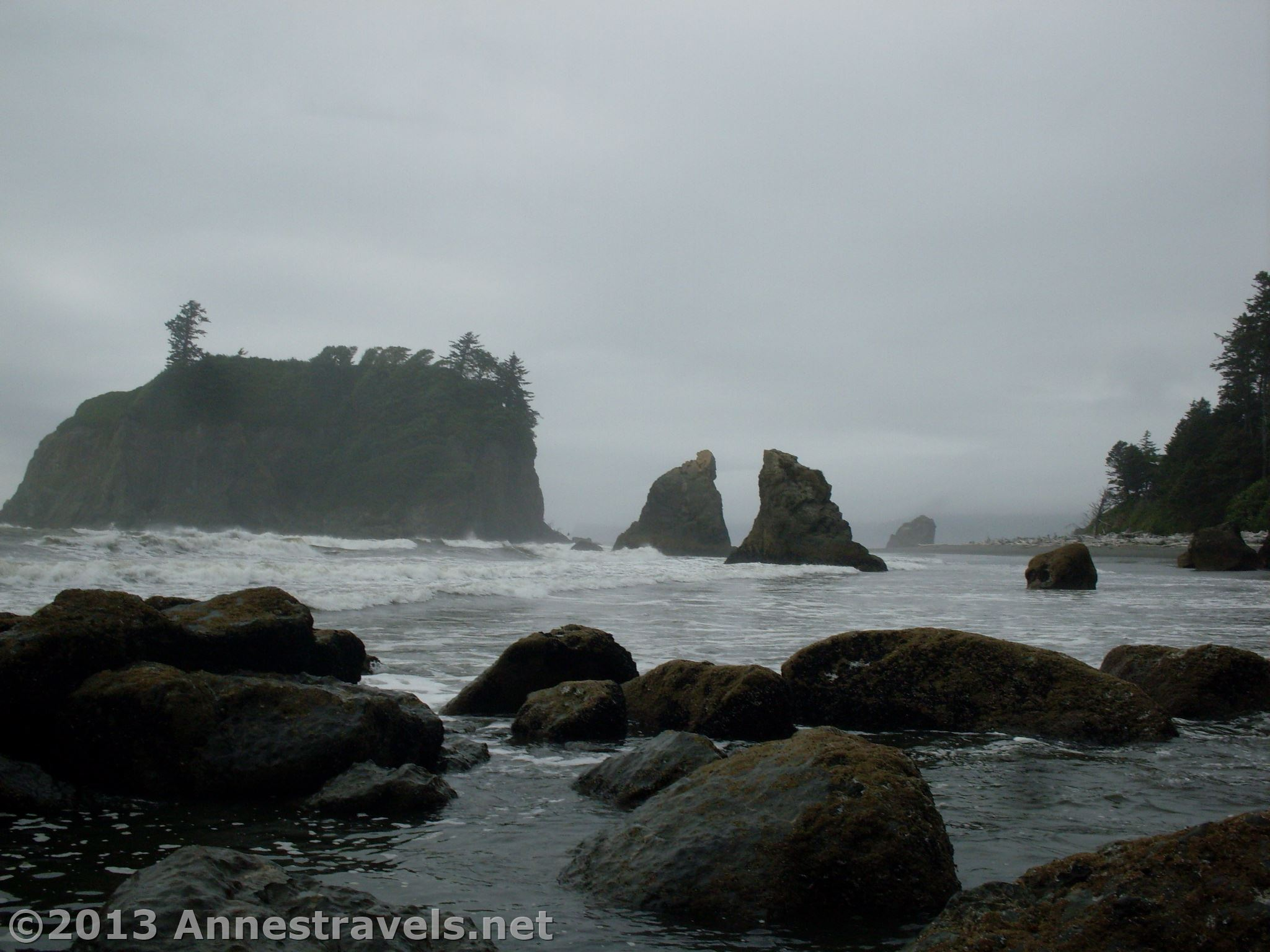 Sea Stacks, Sea Arches, and Wilderness at Ruby Beach