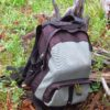 A daypack in a forest