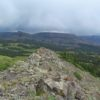 Looking toward the Little Flat Tops from Pyramid Peak, Flat Tops Wilderness Area, Colorado