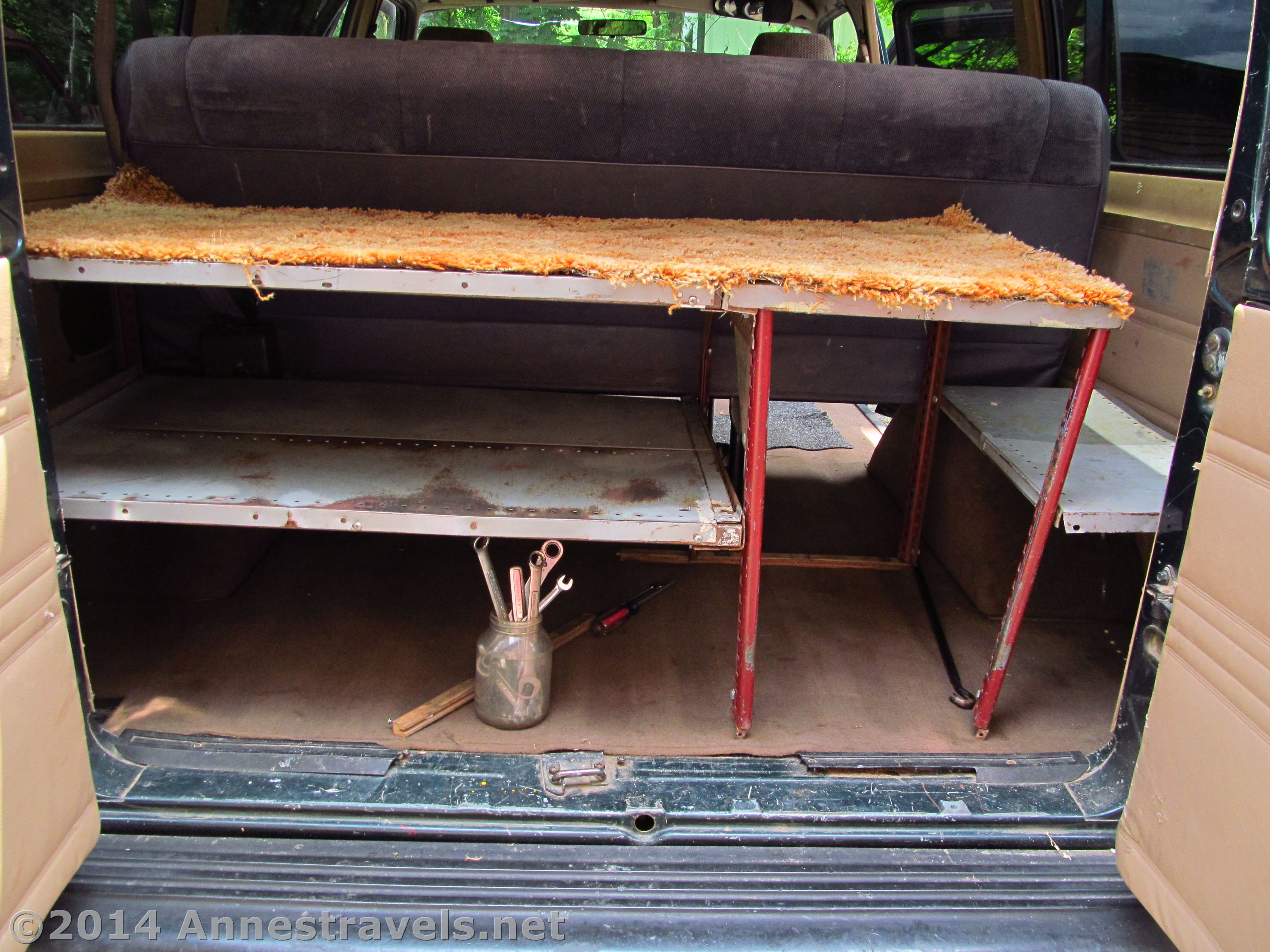 Diy Shelving Unit For The Back Of A Van Or Other Vehicle