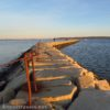 Just before sunset on the Plymouth Jetty, Plymouth, Massachusetts