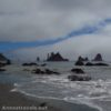 The Giant's Graveyard as seen from south of Third Beach, Olympic National Park, Washington