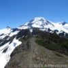 About 5 miles along the Skyline Divide Trail, Mt. Baker looms, grand and spectacular. Skyline Divide Trail, Mount Baker-Snoqualmie National Forest, Washington