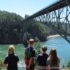 Looking at the Deception Pass Bridge from Pass Island, Deception Pass State Park, Washington