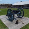 A canon within Fort Stanwix National Monument, New York