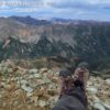 Showing off my hiking boots in Electric Pass, White River National Forest, Colorado