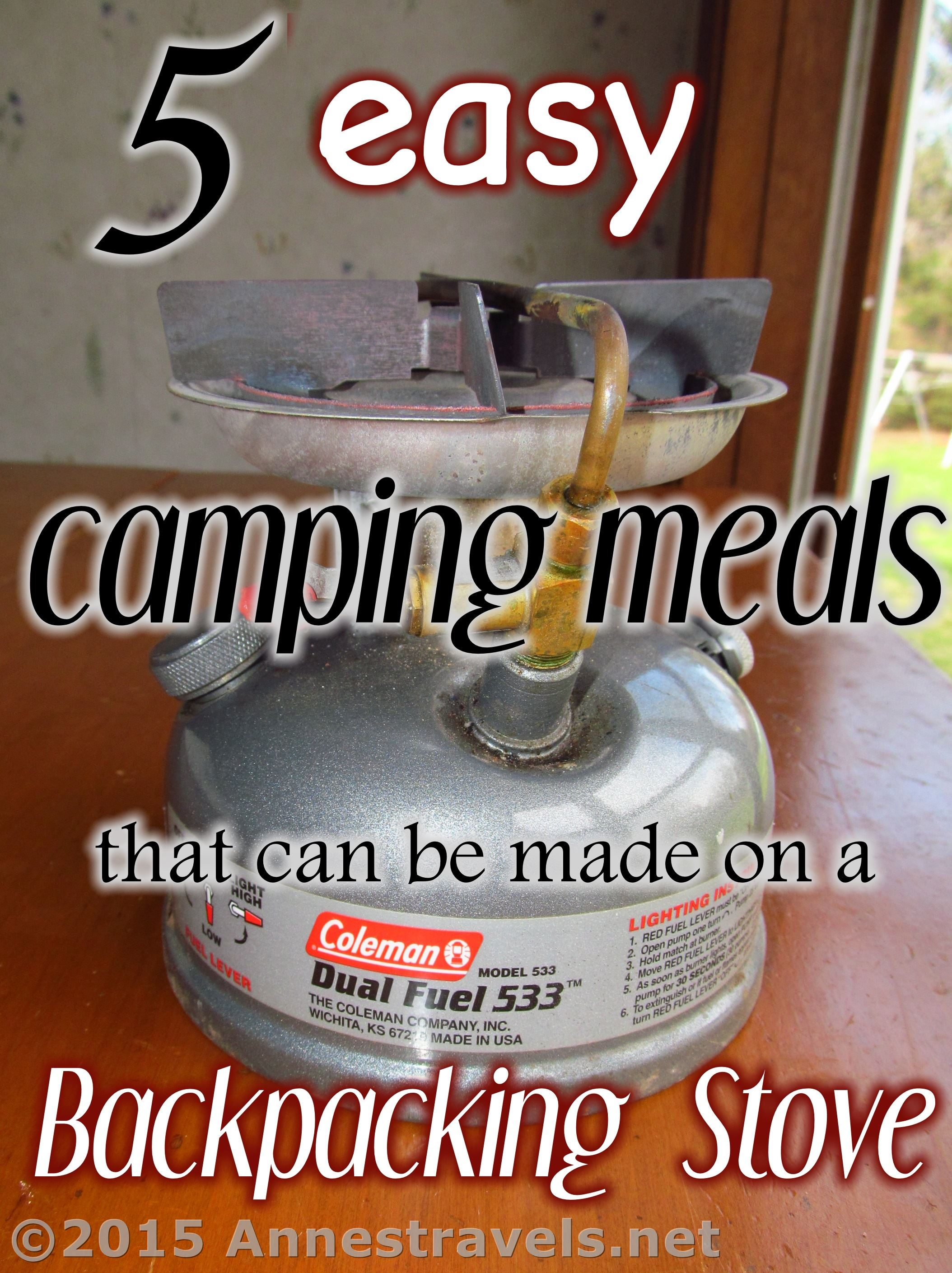 5 Easy Camping Meals Made On A Backpacking Stove