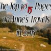 The Top 15 Pages on Anne's Travels in 2015