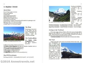 "Sample page from ""A View Junkie's Guide to Dayhiking Washington"" by Anne Whiting"