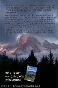 "Back cover from ""A View Junkie's Guide to Dayhiking Washington"" by Anne Whiting"