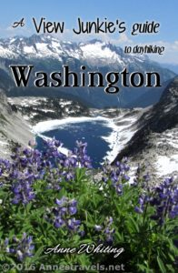 Front Cover to A View Junkie's Guide to Dayhiking Washington by Anne Whiting