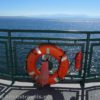 "View off the Bow of the ferry ""Kennewick"" while crossing the Puget Sound, Port Townsend Ferry, Washington"