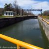 Lock 30 as seen from the top of the lock, Macedon Canal Park along the Erie Canal Path, New York.