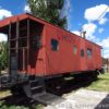 An old caboose (that you can actually walk inside) at the Medicine Bow Museum, Wyoming