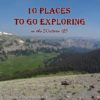 Bonneville Pass is another great place to go exploring without a trail, Bridger Teton National Forest, Wyoming
