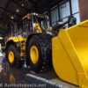 A front end loader you can climb into at the John Deere Pavilion in Moline, Illinois
