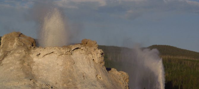 An Evening at the Upper Geyser Basin