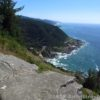Cape Perpetua as seen from the Stone Shelter atop the nearby headland. Oregon.
