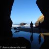 Reflections in the sea arch in the Punchbowl, Oregon
