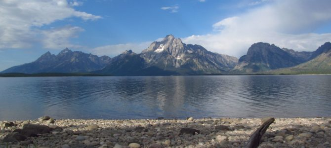 Lakeshore Trail overlooking Jackson Lake and the Tetons