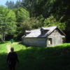 The powerhouse disguised as a farmhouse at the WWII era Klamath River Radar Station, Redwood National Park, California