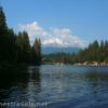 Views from a little swimming beach on Lake Siskiyou, Shasta-Trinity National Forest, California