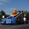 A float depicting floating down the river on a rubber raft in the Days of '47 Parade 2016 in Salt Lake City, Utah