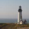 The Yaquina Head Lighthouse from a pullout on the road to the point, Newport, Oregon