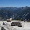 Overlooking Vernal Falls from North Dome, Yosemite National Park, California