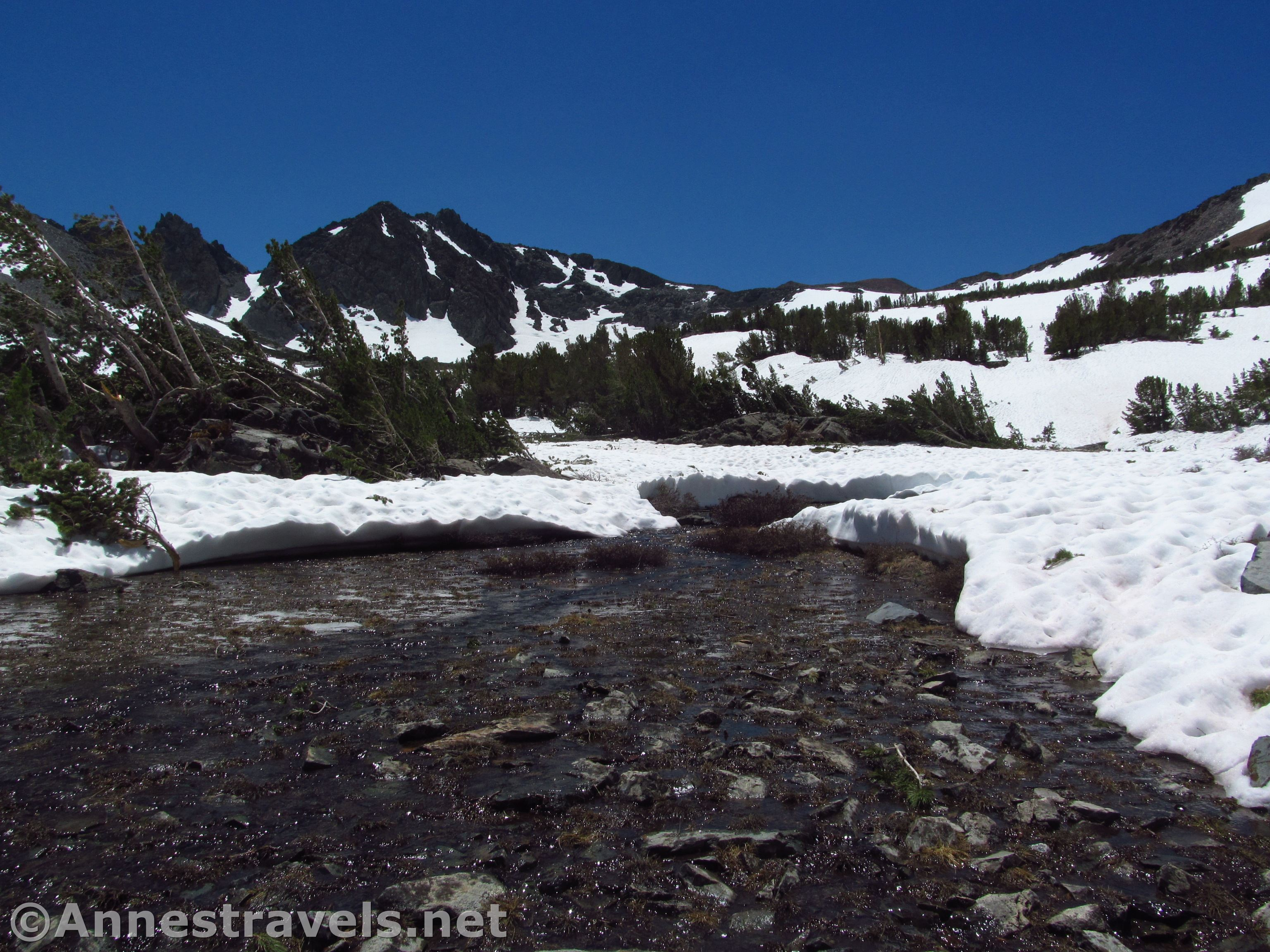 Stream above the Frog Lakes - Anne's Travels