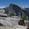 Views of Half Dome from North Dome in Yosemite National Park, California