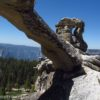 Under Indian Rock in Yosemite National Park, it's fun to look at the other nearby arch. California